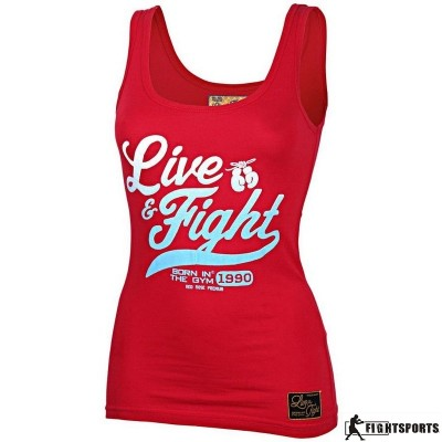 OLIMP LIVE & FIGHT TANK TOP ORIGINAL RED