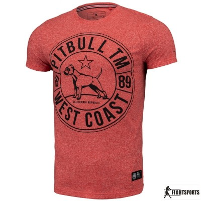 PIT BULL KOSZULKA CUSTOM FIT CIRCLE DOG RED