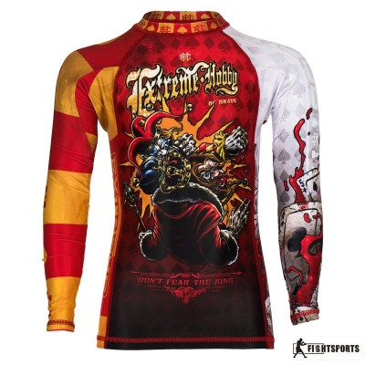 EXTREME HOBBY RASHGUARD KIDS KILLER CARDS 2 RED