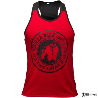 GORILLA WEAR TANK TOP ROSWELL RED